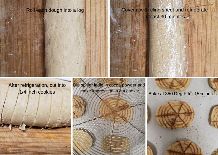 Step wise pictures to make 3 ingredients shortbread cookies.