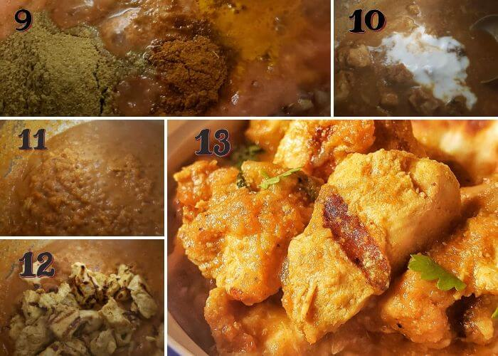 Step wise pictures to make Chicken Tikka Masala in Instant pot.