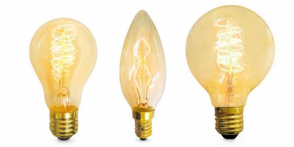 bombillas incandescentes vintage