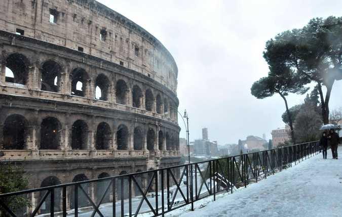 Matrimonio Sul Litorale Romano : Neve sul litorale romano a latina nessun fiocco