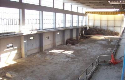 Centrale di Latina - Edificio turbine dopo i lavori di decontaminazione e smantellamento dei componenti metallici