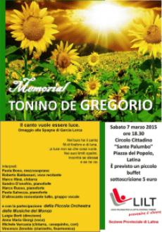 Memorial Tonino De Gregorio