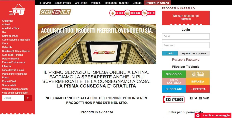 Spesa per te nasce il primo supermercato online di latina for Spesa per oneri di sistema