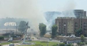 incendio-palazzo-vetro-viale-nervi-latina24ore