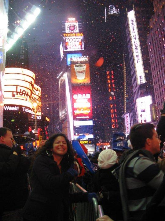 NYE Ball drop in Times Square, VIP lane