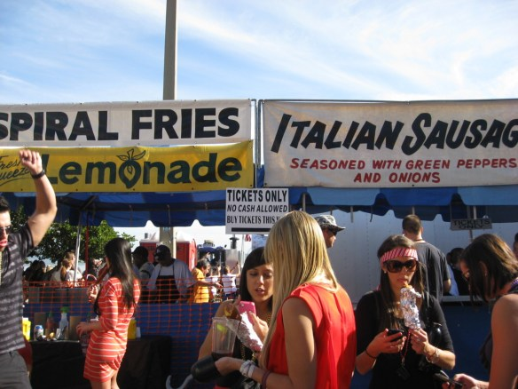 food stand at the parade
