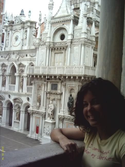 my European holiday, Venice Palazzo Duccale balcony