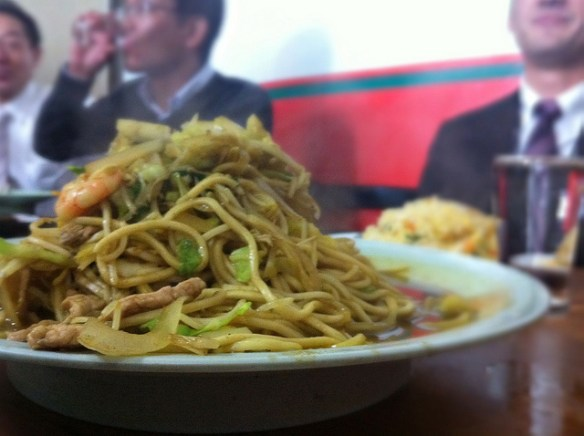Chinese yellow curry noodles