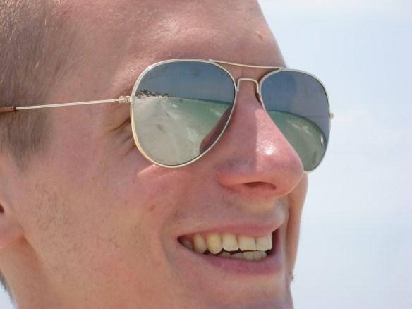 Siesta beach FL, Aviator sunglasses shot