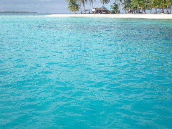 Caribbean bright blue waters