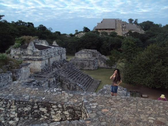 Ek Balam Mayan ruins panorama