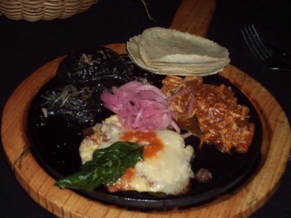 Maya food platter, Yaxche rest.
