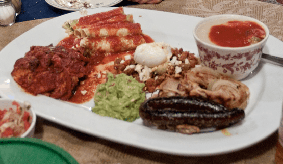 Maya food platter