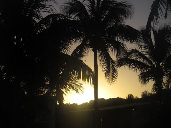 Rincon beach sunrise, Puerto Rico time lapse video