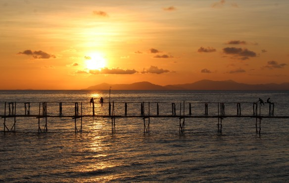 Mabul island sunset, Sabah, Borneo