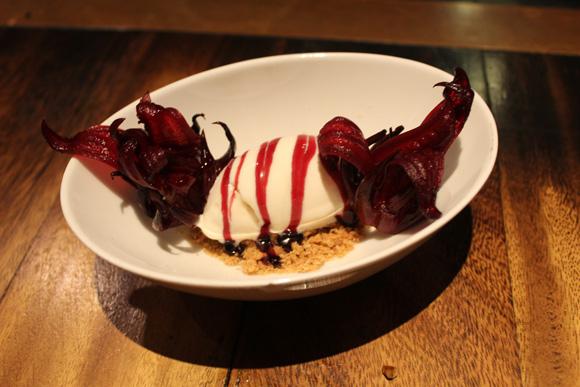 Singapore food, Hibiscus ice cream