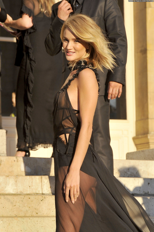Rosie Huntington Whiteley Posing Hot Black See Through Beautiful Babe