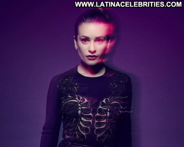 Lea Michele Awards Posing Hot Celebrity Paparazzi Beautiful Babe