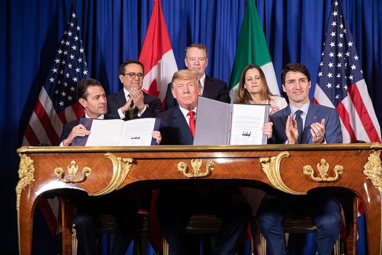 USMCA signed agreement free trade Mexico Canada United States