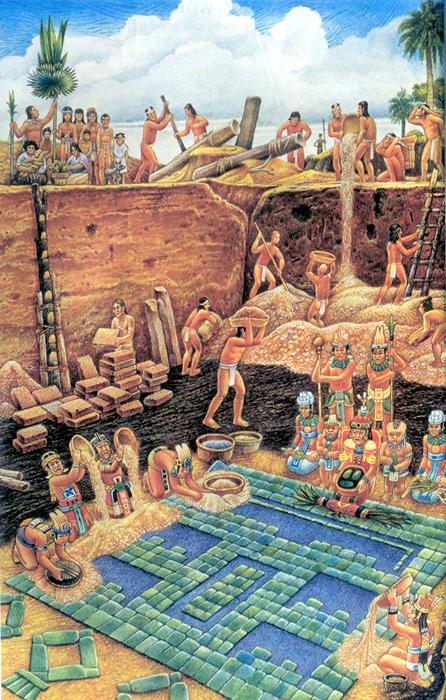 Recreation Of Olmec Civilization
