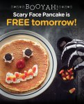 Free Scary Face Pancakes for the Little Monsters!
