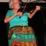 92 year old Eva Nuanez electrified the audience with her violin and singing of her favorite Chicano/Mexicano songs. Nuanez, who has been playing her music in Denver since the early 1940's, was the very first inductee to the Chicana Music Hall of Fame 20 years ago.