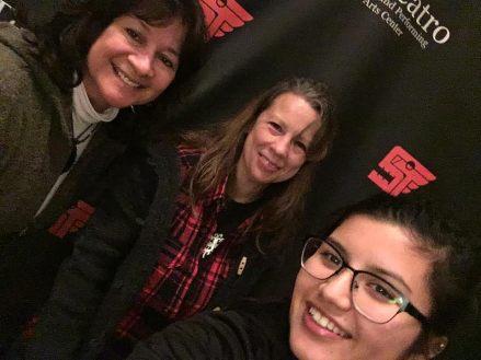 Cindy Cordova (Su Teatro actress), Tanya Mote (Su Teatro Associate Director), Maria Luisa Burgos (Su Teatro Actress and Staff)