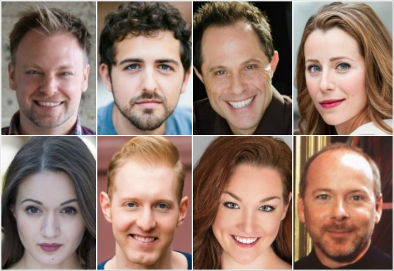 The cast of 'First Date,' top row from left: Steven J. Burge, Seth Dhonau, Jordan Leigh and Lauren Shealy. Second row: Adriane Wilson, Cashelle Butler, Barret Harper and Director Ray Roderick.