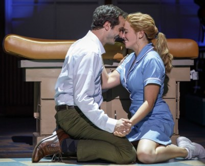 Bryan Fenkart and Desi Oakley in the national touring production of the hit Broadway musical 'Waitress,' playing at The Buell Theatre in Denver from Dec. 19-31. Photo by Joan Marcus.