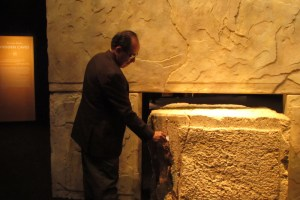 An authentic three-ton stone block from Jerusalem's West Wall. Visitors are invited to leave notes with your hopes, prayers & dreams in the cracks between the the stone.