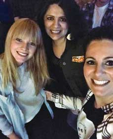 Lucy Rose(left) with Monica Padilla (center) and Dana Hobaica (right) at the Larimer Lounge in Denver