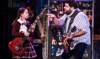 Denver Center_Theodora Silverman and Rob Colletti in the School of Rock.