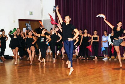 Chepe shared his dance skills, talents and wisdom with more than 50 aspiring Mexcian folklorico dancers at a workshop held at the Newman Center at the D.U. campus