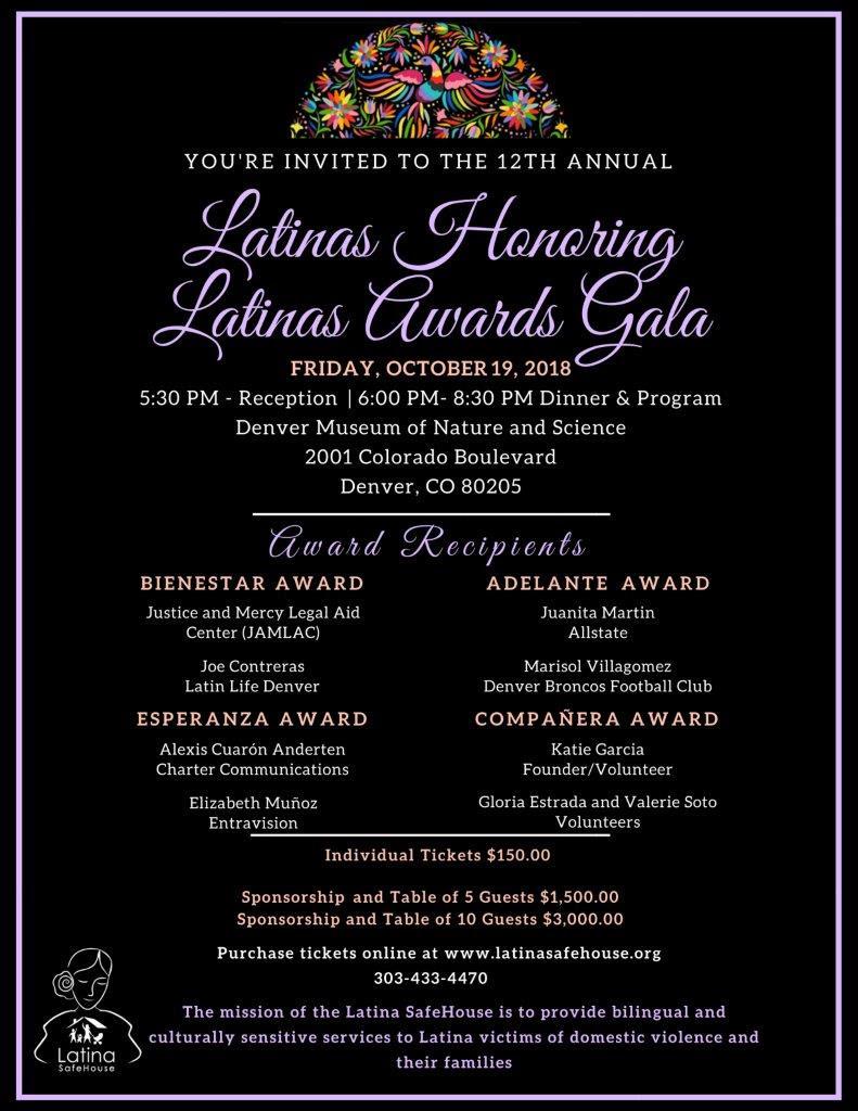 Latina Safehouse Awards Ceremony poster