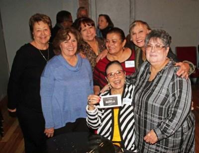 (from left to right) Romana Martinez, Fran coleman, Adrienne Benavidea, Yolanda Ortega, Juana Bordas, Veronica Barela. Seated Patricia Barela