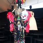 "The colorful traditional clothing of Peru and Mexico had a significant impact on Dior designs as illustrated in this ""Dia de los Muertos"" dress and accessories."