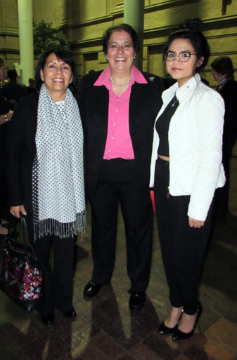 Berenice Rendon Talavera, the General Consul of Mexico in Denver (left) Gabriella Chavarria (center) along with her daughter (right) Photo by Latin Life Denver Media taken Feb. 13, 2018