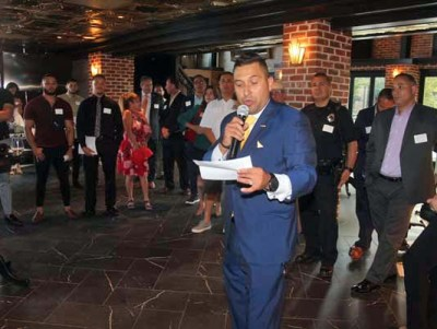 Danny Martinez L.I.F.T Co-chair welcomes the crowd to the launch of the Colorado's first Latino philanthropic organization.