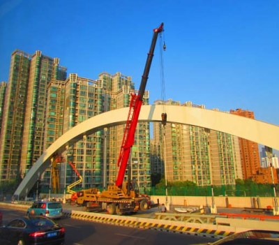 The building Crane, jokingly referred to as the national bird of China