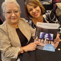 """Roberta Moreno & Ruth Sanchez at Opening Night of """"Summer,The Donna Summer Musical"""" at the Buell Theatre Through Feb. 9th."""