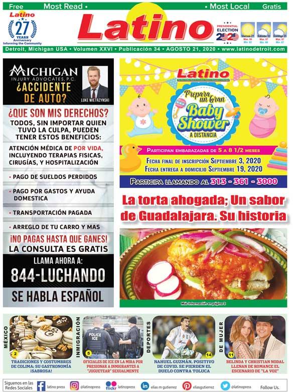 Latino Press Portada 21 de Agosto