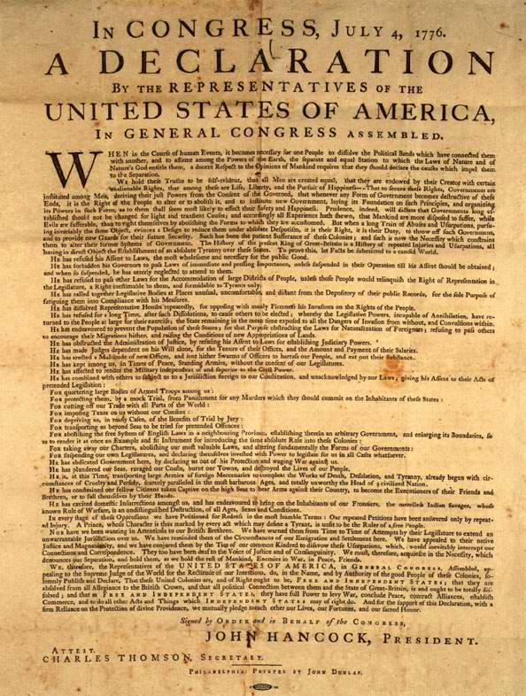 the declaration of independence the full text in english and spanish