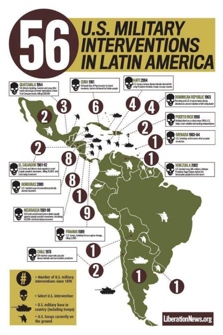 Us Interventions In Latin America Map The Question We Wanted to Hear at Debate: What About US Military