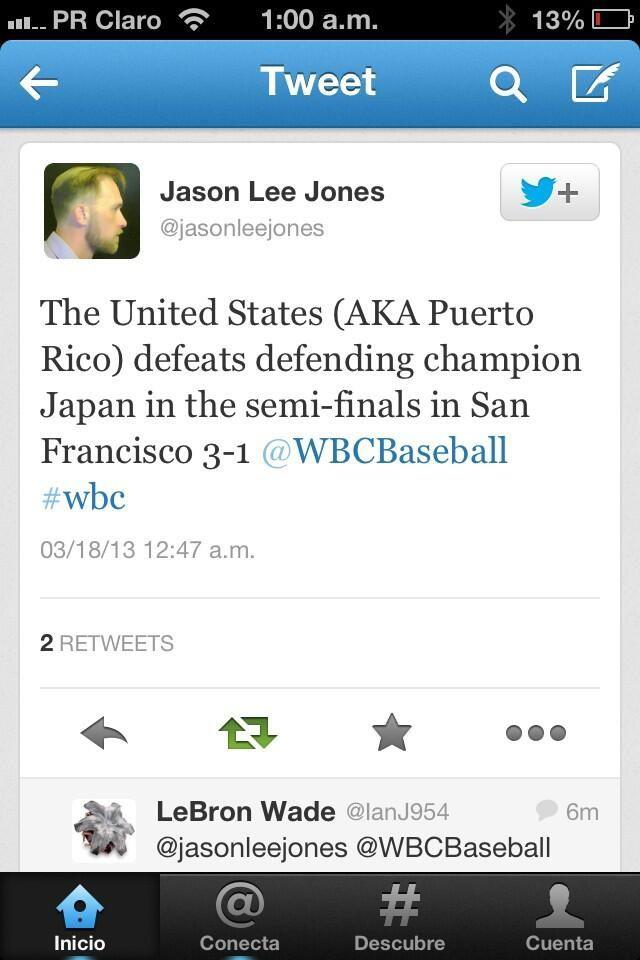 With Puerto Rico in WBC Final, Suddenly Some Americans Feeling Proud of its Colony