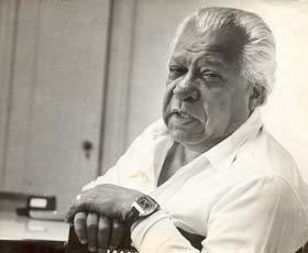 Nicolas Guillén Foto: Osvaldo Salas 1977
