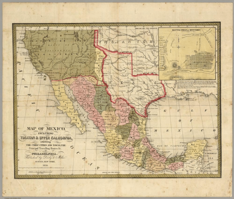 Latino Rebels VIDEO When The US Was Conqueror Of Mexico - Mexico map before us invasion