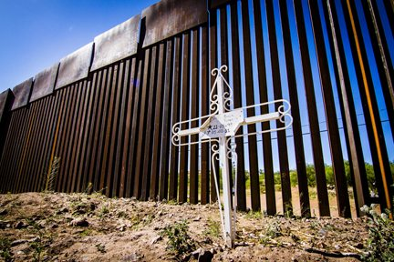 CREDIT: Murphy Woodhouse. Cross in Nogales, Sonora.