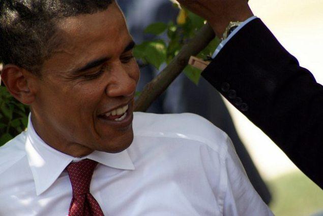Candidate Obama in Springfield, MO, 2008. (CREDIT: Pablo Manriquez)