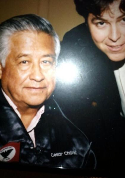Chávez and the author