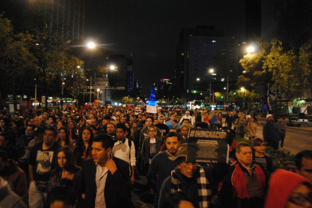November 8 protest in Mexico City. Photo by ProtoplasmaKid (Wikimedia Commons)
